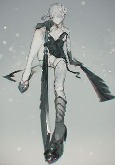 Kaine, Nier artwork by Sugimoto Gang.
