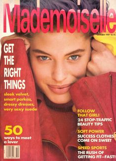 1989 Mademoiselle Fashion Magazine Cindy Crawford Richard Lewis Kirstie Alley Julian Lennon Marlon Brando Heroin Chic Moscow Vintage by on Etsy Cindy Crawford, Richard Gere, Mademoiselle Magazine, Kelly Lebrock, Virginia Slims, Rachel Williams, Magazin Covers, Kirstie Alley, Soft Power