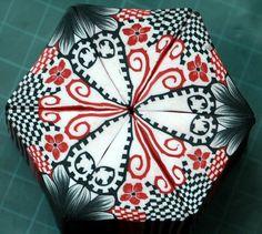 Free polymer clay kaleidoscope tutorial by Ronigur.