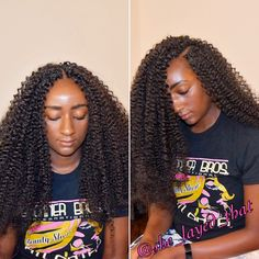Crochet braids using 2 and a half packs of Freetress water wave   can be worn…