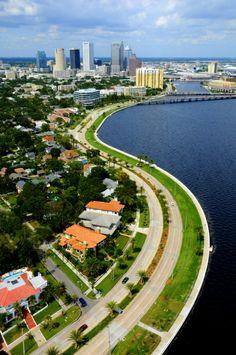Bayshore Boulevard in Tampa, FLorida Visit Florida, Florida Living, Tampa Florida, Florida Vacation, Florida Travel, Florida Beaches, Clearwater Florida, Naples Florida, Beach Travel