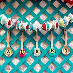 Extension of the cupcake garland, we could spell out 'Bake Off'.                                                                                                                                                                                 More