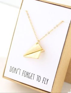 AIR-44 Don't forget to fly necklace