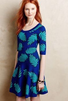 Plenty by Tracy Reese Palm Leaf Petite Sweater Dress  #anthrofave #anthropologie