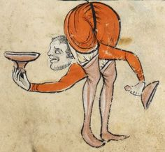 "Detail from ""The Rutland Psalter"", medieval (c1260), British Library Add MS 62925. f 73r"
