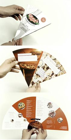 Pizza delivery menu