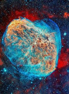 Crescent Nebula/haven't seen a pic of this in this wavelenght....trying to locate main picture like this...