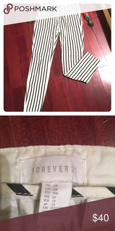 Forever 21 Brand New pants stripe Forever 21 Brand New pants brought New lovely❤️The Forever 21 size is US28 which is Large see label photo Forever 21 Pants Skinny