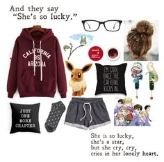 """I'm going to start putting a song of the day in the description"" by potato-swan77 ❤ liked on Polyvore featuring H&M, Forever 21, Ray-Ban, Korres and Ghibli"
