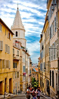 The old disrict of Panier, Marseille, France Places Around The World, Oh The Places You'll Go, Travel Around The World, Places To Travel, Places To Visit, Around The Worlds, Provence, Ville France, Rhone
