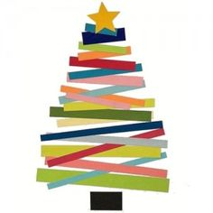 Xmas tree crafts for kids! Christmas Tree Crafts, Christmas Projects, Winter Christmas, Holiday Crafts, Christmas Holidays, Simple Christmas, Christmas Card Ideas With Kids, Xmas Ideas, Christmas Bullentin Board Ideas