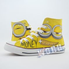 Despicable Me hand painted canvas shoes custom Minions anime lovers shoes http://it.aliexpress.com/store/product/Despicable-Me-hand-painted-canvas-shoes-custom-Minions-anime-lovers-shoes-high-top-graffiti-breathable-flats/1768014_32594774090.html