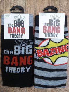 *BRAND NEW* THE BIG BANG THEORY MENS SOCKS 2 TWO PAIRS BAZINGA TV PRESENT GIFT