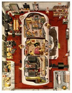 12 Guinea Pigs | Flickr - Photo Sharing! By Fred Freeman 1953 simulated space flight for magazine illustrstaion