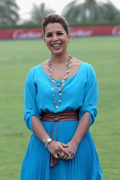 RH Princess Haya Bint Al Hussein laughs on the final day of the Cartier International Dubai Polo Challenge 10th edition at Desert Palm Hotel on 21.02.2015 in Dubai, UAE