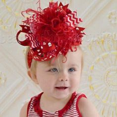 Leave a lasting impression with this showy and spectacular Valentine's Day #Red Hearts and Chevron Girl's Hair Bow, reminiscent of a giant chrysanthemum or rose. Ruby red co... #new #girlshairbows #bighairbows #overthetopbows #tutudresses #babyrompers #feathers #red #rhinestones ➡️ http://beautifulbowsboutique.com/products/red-valentine-hair-bow-or-baby-headbands-hearts?utm_campaign=products&utm_content=b336b597528a440a810004c00a24c3b1&utm_medium=pinterest&utm_source=sellertools