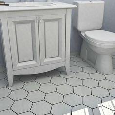 SomerTile Hextile Matte White Porcelain Floor and Wall Tile (Set of 14) - 15742539 - Overstock - Big Discounts on Floor Tiles - Mobile