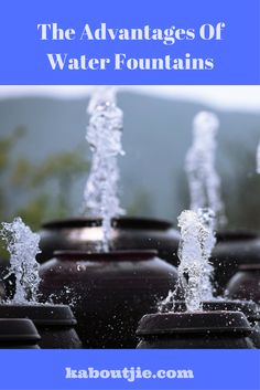 Water fountains are beautiful for both indoor and outdoor use, but did you know that there are many advantages to water fountains that will be beneficial to your health and well-being?   #WaterFountains #OutdoorWaterFountains #IndoorWaterFountains #AdvantagesWaterFountains