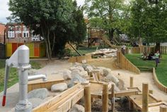 Waldorf Outdoor Play Area | playscapes: Kilburne Grange Adventure Playground, Erect Architecture ...