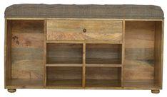 Alina Wood Storage Hallway Bench
