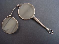 Antique Lorgnette Lorgnon Magnifier Eyeglass by AntiqueSilverShop, $399.99