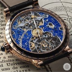 Case back of one of the most gorgeous watches presented at SIHH 2017 - Récital 20 Astérium by Bovet ✨ ♢ ⌚Timepiece: Fancy Watches, Expensive Watches, Stylish Watches, Luxury Watches For Men, Cool Watches, Amazing Watches, Beautiful Watches, Skeleton Watches, Mechanical Watch