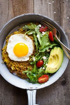 Curried Rosti - simple pan-fried potato pancake that's great as a healthy breakfast!