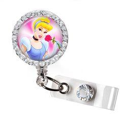 Cinderella Retractable badge ID badge holder by ButtonizingBat