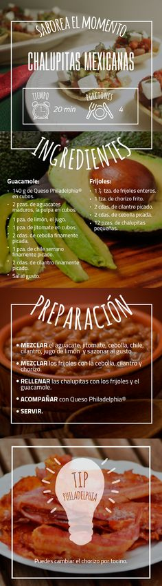Una receta mexicana que cautivará tus sentidos: Chalupitas mexicanas.  #Chalupas…