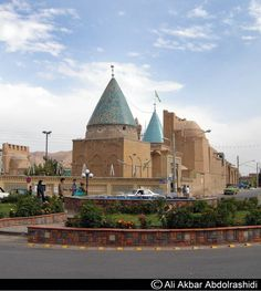 Photographer's note: Mausoleum of Bayazid Bastami in Bastam near Damghan, Iran. He was born and buried in Bastam, Iran. The building belong to the Ilkhani era. The pointed dome is unique in the architecture of this type of mausoleum. Iran, Sufi Saints, Persian Architecture, Bury, Capital City, Middle East, Barcelona Cathedral, Places To Go, Hadith