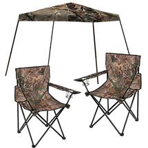 Realtree Camo 10' x 10' Slant Leg Canopy with 2 Realtree Folding Chairs Value Bundle $99 #Realtreecamo