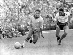 Garrincha and Hilario in action. Brasil v Portugal (2-1). Sao Paulo, May 6, 1962.Source: Britannica