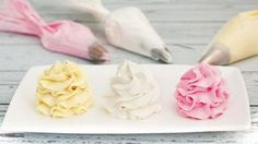 Receta de Buttercream o crema de mantequilla: trucos y consejos - My Karamelli Fondant Cupcakes, Cupcake Cakes, Frost Cupcakes, Cupcake Frosting, Buttercream Frosting, Frosting Recipes, Cake Recipes, Yummy Drinks, Delicious Desserts