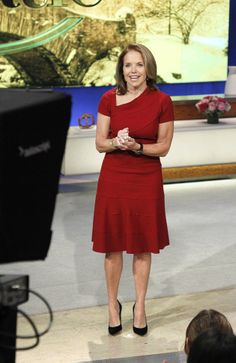 Katie wears red for the holidays in this Amelia Toro dress!