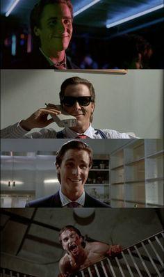 American Psycho, 2000 (dir. Mary Harron) By quello nello specchio