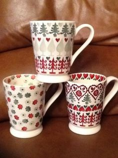 Emma Bridgewater Christmas Cocoa Mugs - Studio Specials  I love these! Want these for me and thee!
