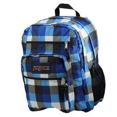 JanSport Big Student Backpack - Sport Inspired - Accessories - Blue Streak Block Check