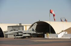 French Armée de l'Air Dassault Rafale of force Épervier on QRA in Chad.
