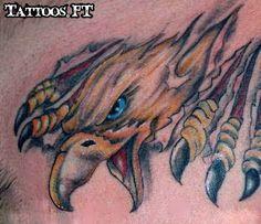 Fotos de Tatuagens: Aguia rasgando a pele