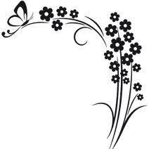 desenhos de ramos de flores - Google Search