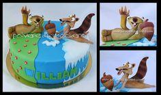 cake Ice Age: sid and scrat - by PolverediZucchero @ CakesDecor.com - cake decorating website