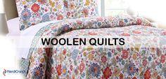 Woolen Quilts shop on handicrunch.