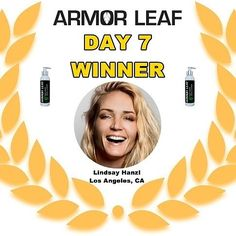 Congratulations to Lindsay Hanzl in Los Angeles CA  Linsaywill receive a free bottle ofArmor Leaf Daily Scrub Facial Cleanserin the mail this week!We hope she loves Armor Leaf as much as we do!   Armor Leafproducts are cruelty-free dye-free alcohol-free paraben-freesulfate-free gluten-free and made in U.S.A. We are a family owned business with a clear focus on delivering premium natural and organic products that actually work! Armor Leaf products are made with the finest botanicals in a…