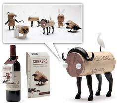 Corkers: wine for mommy, toys for the kid. Can't get any better than that!