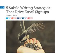 5 Subtle Writing Strategies That Drive Email Signups Small Business Marketing, Email Marketing, Online Business, Landing Page Optimization, Writing Strategies, Writing Tips, Marketing Articles, Make Money Online, Things To Think About