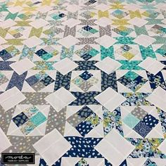 """Flour Garden - Canopy. The Flour Garden collection is by Linzee Kull McCray and the Canopy quilt is by Linzee and Pam Ehrhardt of Clark Street Quilts. Finishing at 76"""" x 76"""", Canopy is made with 36 fat eighths - if you're using only Flour Garden pre-cuts, get 1 F8 bundle and 2 Charm Packs. Look for Flour Garden at your favorite quilt shop sometime next week.⠀⠀⠀⠀⠀⠀⠀⠀⠀ ..⠀⠀⠀⠀⠀⠀⠀⠀⠀ For more with Linzee - @seamswrite.⠀⠀⠀⠀⠀⠀⠀⠀⠀ ..⠀⠀⠀⠀⠀⠀⠀⠀⠀ .. ⠀⠀⠀⠀⠀⠀⠀⠀⠀ #showmethemoda #modafabricsandsupplies #madew Garden Canopy, Round Basket, Basic Grey, Charm Pack, I Fall In Love, Upcycle, Blanket, Quilting Ideas, Fabric"""