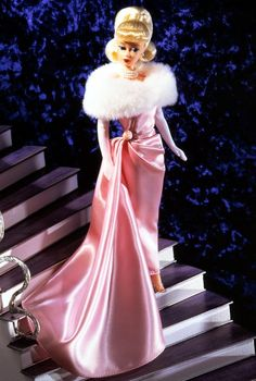 pink satin Barbie I loved this dress, someone stole it from me