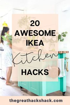 Ikea make great kitchens, but you can add some extra customisation by transforming some of their other products. These Ikea kitchen hacks show you how. #ikeakitchen #ikeakitchenhacks #kitchenhacks #ikeahacks #ideas Ikea Kitchen Trolley, Ikea Kitchen Units, Ikea Kitchen Furniture, Ikea Kitchen Organization, Ikea Kitchens, Ikea Furniture Hacks, Ikea Kitchen Cabinets, Ikea Hacks, Kitchen Hacks