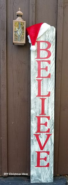 Believe rustic holiday christmas indoor outdoor wood sign b 1 11 x 6 Pallet Christmas, Christmas Porch, Outdoor Christmas Decorations, Christmas Signs, Christmas Projects, Winter Christmas, Christmas Ideas, Holiday Ideas, Country Christmas