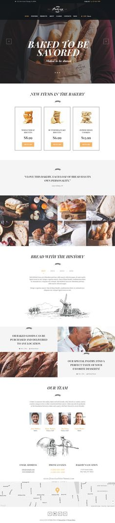 Bakery - Bakery, Cafe & Bread Shop WP Theme. Bakery theme is compatible with a bundle of premium plugins: Revolution Slider, Essential Grid, Visual Composer, PO Composer and WooCommerce to make it easy for you to setup and manage your #bakery #onlineshop.